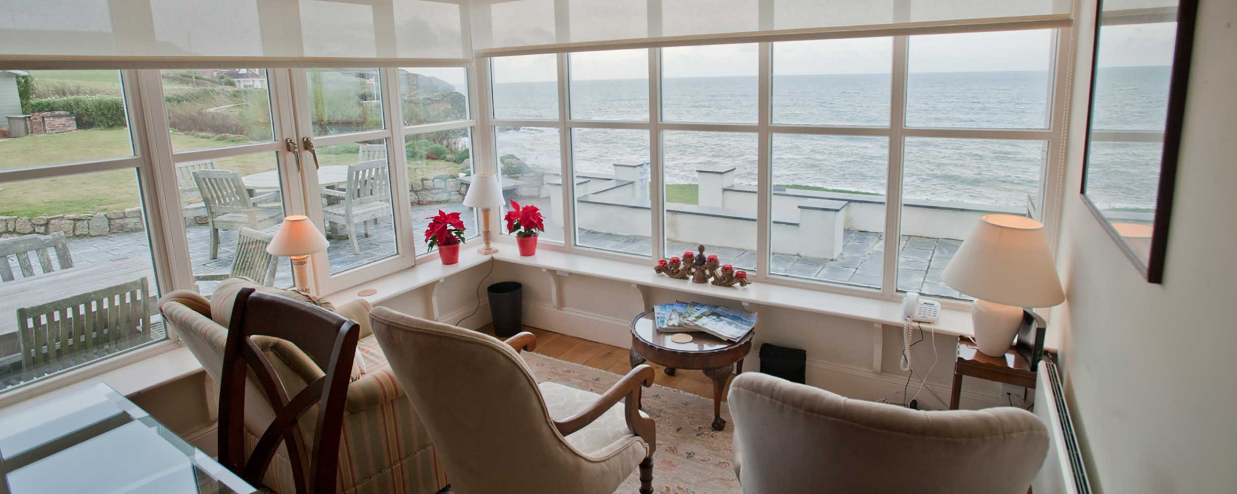 Sea views from the terraces